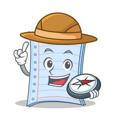 Explorer notebook character cartoon design vector