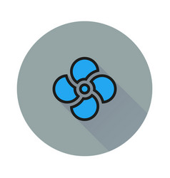 fan icon on round background vector image