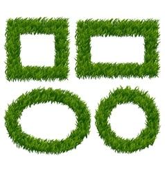 Green grass frames set vector