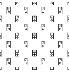 Mp3 player pattern simple style vector image