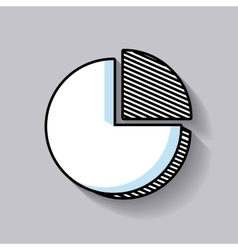Pie graph statistic line icon vector