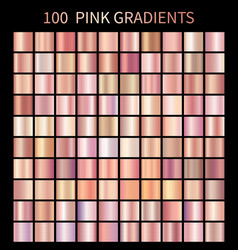 Pink rose gradients collection for fashion design vector