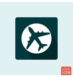 Plane icon isolated vector image vector image