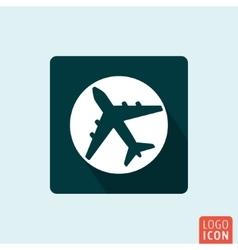 Plane icon isolated vector