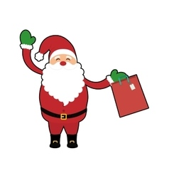 Santa cartoon of Merry Christmas design vector image vector image
