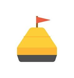 Sea yellow buoy vector