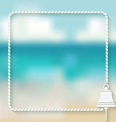 ship bell marine background vector image vector image