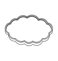 Silhouette realistic cloud in cumulus shape vector