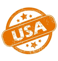 USA grunge icon vector image