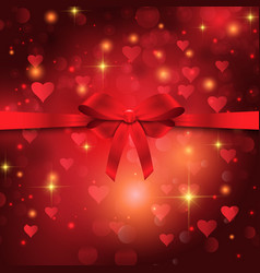Valentines day ribbon background vector