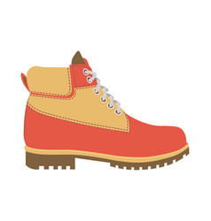 warm winter boot with laces and fur wadding vector image vector image