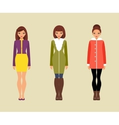 Women in outerwear vector image