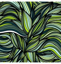 Hand drawn leaves pattern scetch of background vector