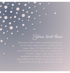 Pink pearls romantic background vector