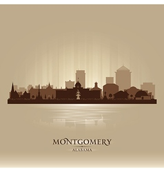 Montgomery Alabama city skyline silhouette vector image