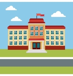 building school back education place vector image