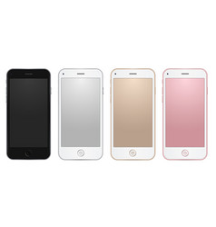 Colored common mobile templates with empty vector