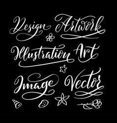 Hand written typography vector