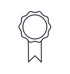 Rosette prize win medal ribbon decoration vector