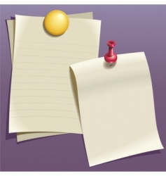 Writing paper vector