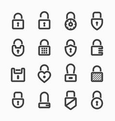 Padlock icons vector