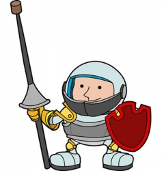 Knight in armour vector