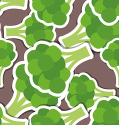 Broccoli pattern seamless texture vector