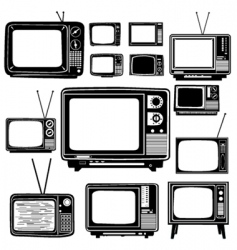 Television old style vector