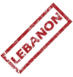 New lebanon rubber stamp vector