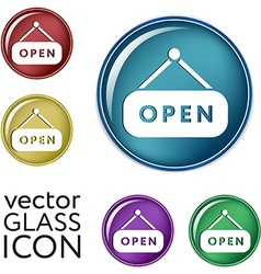 Open label sign vector