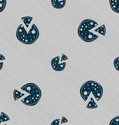 Pizza icon seamless pattern with geometric texture vector