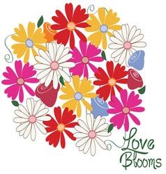 Love blooms vector