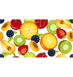 sliced fruit seamless vector image