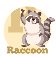 Abc cartoon raccoon3 vector