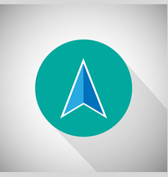 arrow navigation icon vector image
