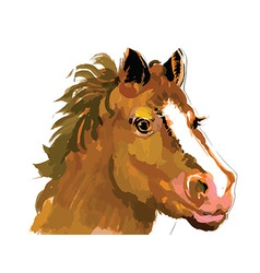 Artistic horse design vector