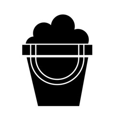 Black icon sand jar cartoon vector