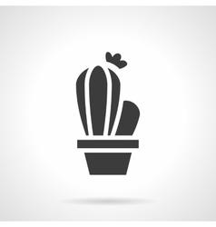 Cactus black glyph style icon vector