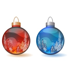 christmas glass balls vector image