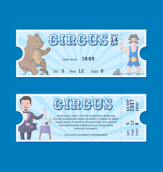 Circus ticket templates vector