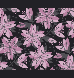 concept abstract floral seamless pattern vector image