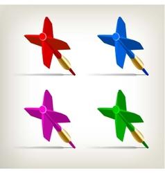 Darts 4 colors vector