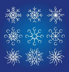 Decorative Snowflakes collection vector image vector image