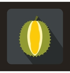 Durian icon in flat style vector
