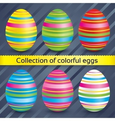 Easter colorful eggs collection set vector image vector image