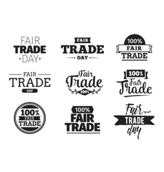 Fair trade day typographic design vector