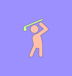 Golf sport golfer man vector