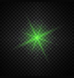 Green glowing lights on transparent background vector