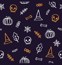 Halloween background with glitter elements vector