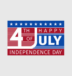Happy fourth july independence day card usa style vector